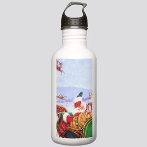 Santa with the sleigh Water Bottle