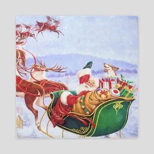 Santa with the sleigh Queen Duvet