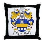 Elguezabal Family Crest Throw Pillow