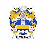 Elguezabal Family Crest Small Poster