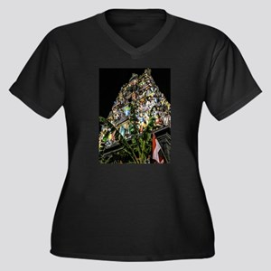 Chinatown Hindu Temple at Night Plus Size T-Shirt