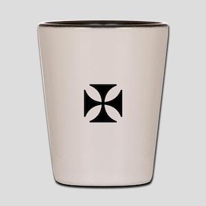 TILE EAC white BLACK Shot Glass