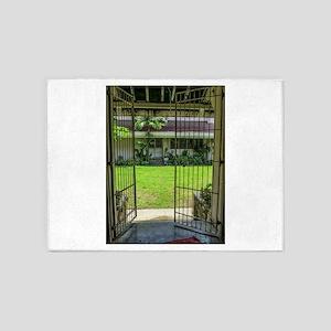 Gated Courtyard 5'x7'Area Rug