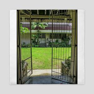 Gated Courtyard Queen Duvet