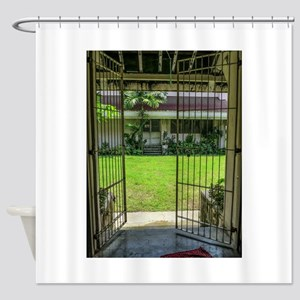 Gated Courtyard Shower Curtain