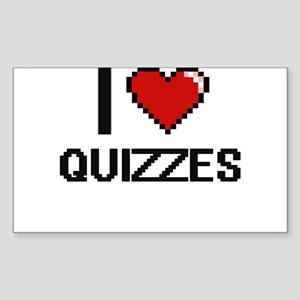 I Love Quizzes Digital Design Sticker