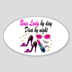 BOSS LADY Sticker (Oval)