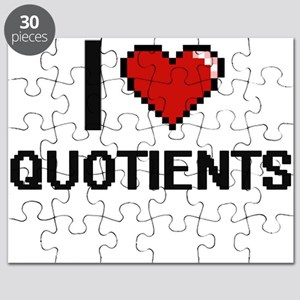 I Love Quotients Digital Design Puzzle