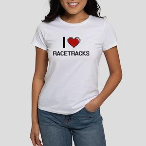 I Love Racetracks Digital Design T-Shirt