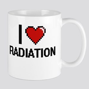 I Love Radiation Digital Design Mugs