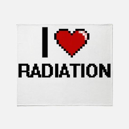 I Love Radiation Digital Design Throw Blanket