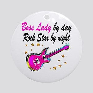 COOL BOSS LADY Round Ornament