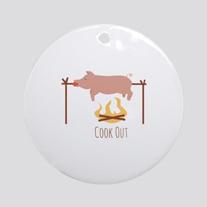 Cook Out Round Ornament