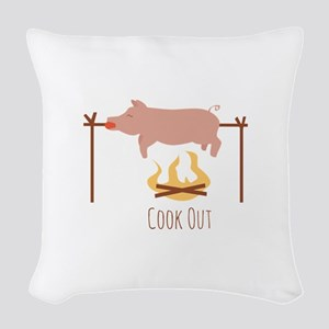Cook Out Woven Throw Pillow