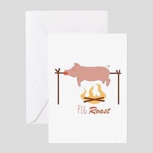 Pig Roast Greeting Cards