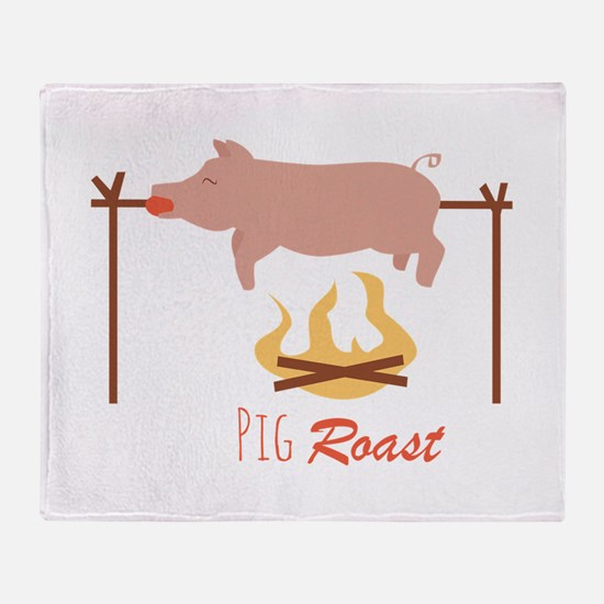Pig Roast Throw Blanket