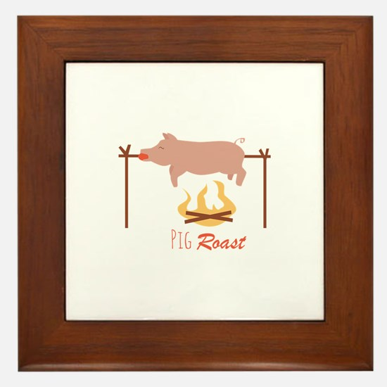 Pig Roast Framed Tile