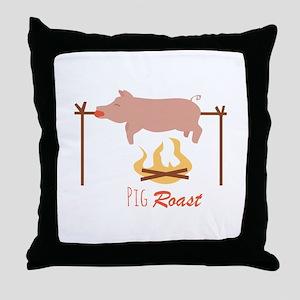 Pig Roast Throw Pillow