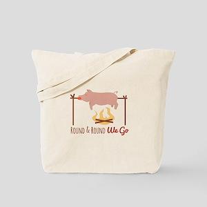 Round We Go Tote Bag