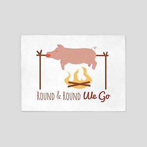 Round We Go 5'x7'Area Rug