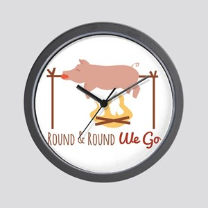 Round We Go Wall Clock