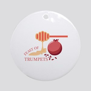 Feast Of Trumpets Round Ornament