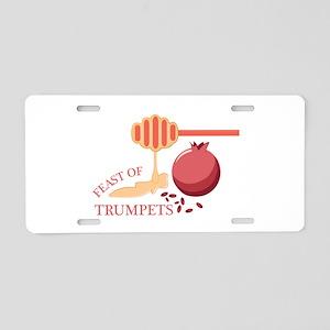 Feast Of Trumpets Aluminum License Plate
