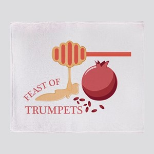 Feast Of Trumpets Throw Blanket