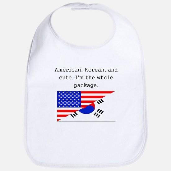 American Korean And Cute Bib