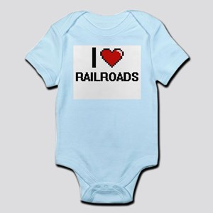 I Love Railroads Digital Design Body Suit