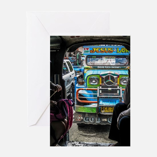 Baguio Jeepneys 1 Greeting Cards