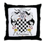 Echenique Family Crest Throw Pillow