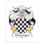 Echenique Family Crest Small Poster