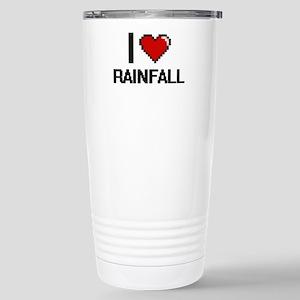 I Love Rainfall Digital Stainless Steel Travel Mug