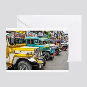 Baguio Jeepneys 4 Greeting Cards