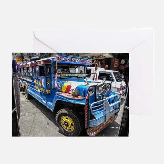 Baguio Jeepneys 2 Greeting Cards