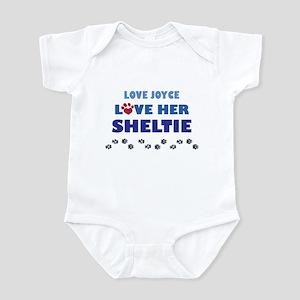 Love Joyce Love Her Sheltie Infant Bodysuit