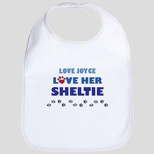 Love Joyce Love Her Sheltie Bib
