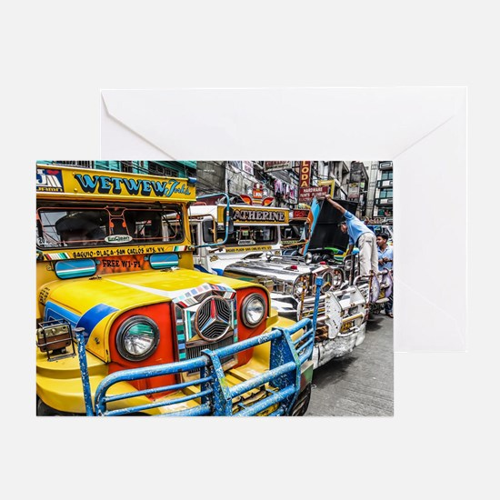 Baguio Jeepneys 3 Greeting Cards