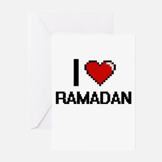 I Love Ramadan Digital Design Greeting Cards