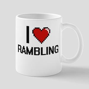 I Love Rambling Digital Design Mugs