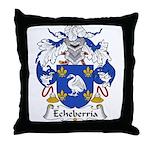 Echeberria Family Crest Throw Pillow