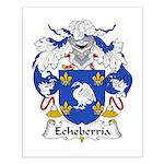 Echeberria Family Crest Small Poster
