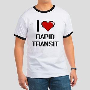 I Love Rapid Transit Digital Design T-Shirt