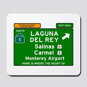 HIGHWAY 1 SIGN - CALIFORNIA - CARMEL - S Mousepad