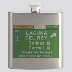 HIGHWAY 1 SIGN - CALIFORNIA - CARMEL - SALIN Flask