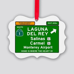 HIGHWAY 1 SIGN - CALIFORNIA - CAR Picture Ornament