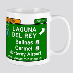 HIGHWAY 1 SIGN - CALIFORNIA - CARMEL - SALINA Mugs