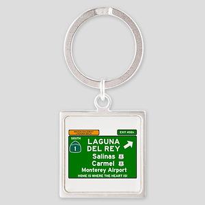 HIGHWAY 1 SIGN - CALIFORNIA - CARMEL - S Keychains