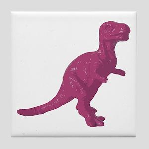 Pink Oldschool T.rex Tile Coaster
